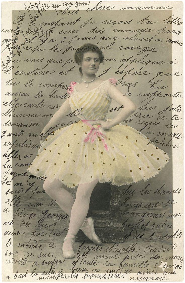 Free Vintage Ballerina Ephemera via The Graphics Fairy
