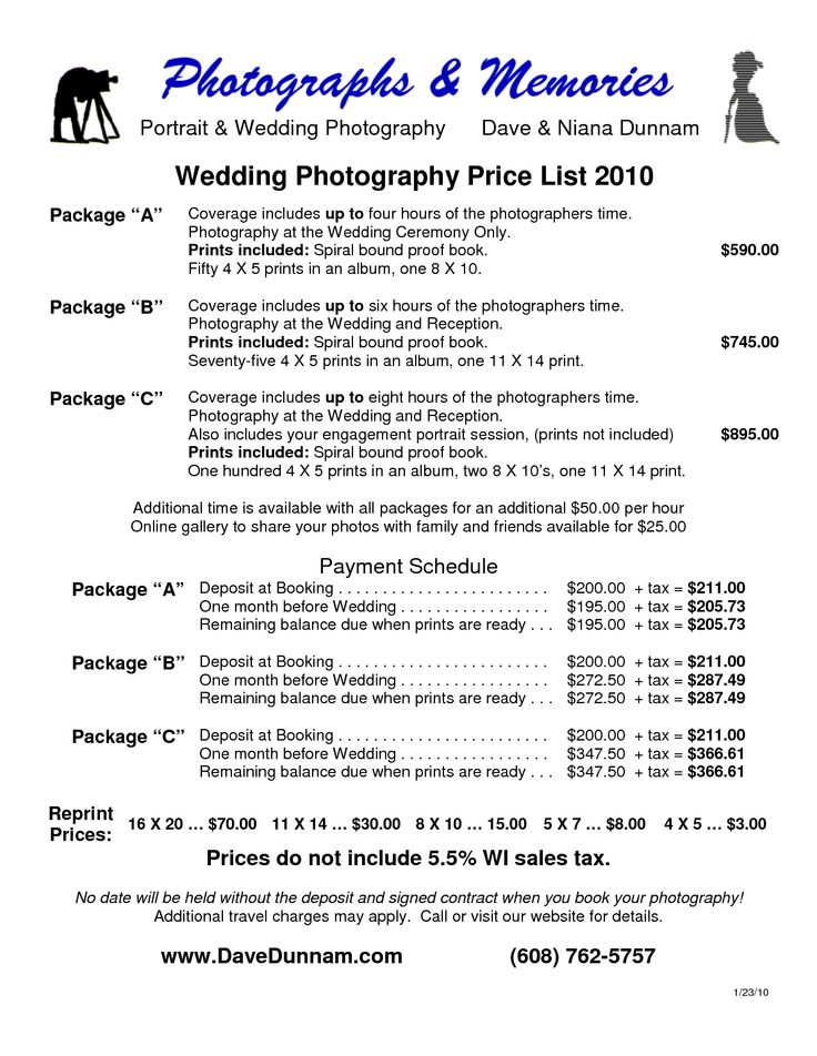 Wedding Rates Photography: 26 Best Pricing & Packages ♡ Images On Pinterest