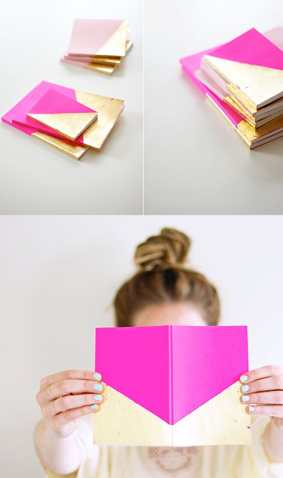 DIY carnet Biton Doré/Rose néon