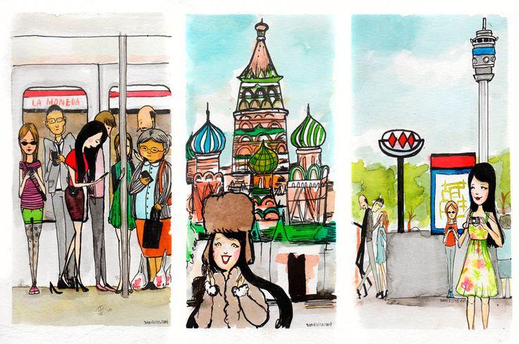 Un viaje en Metro; una vuelta por Rusia y la estación Moneda ;)