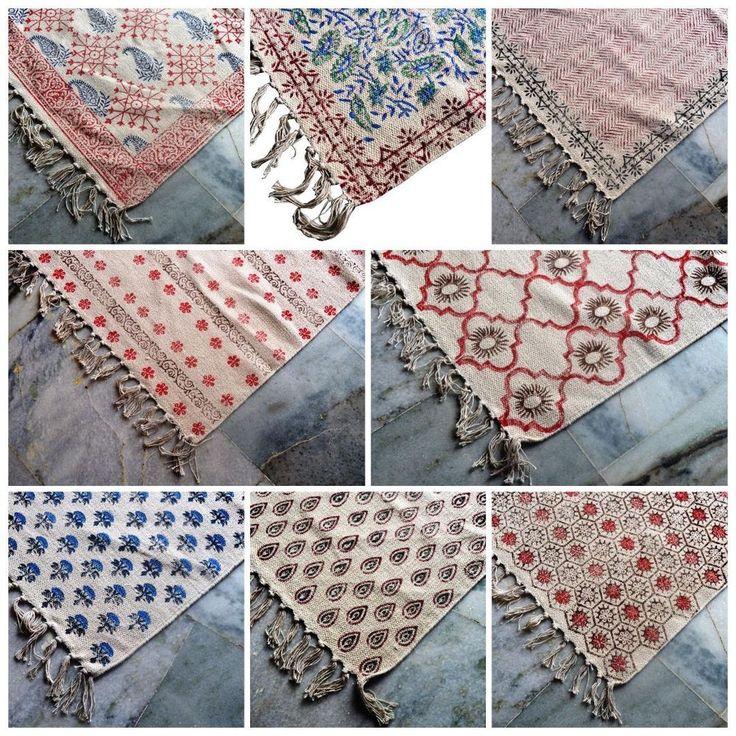 kilim rug area floor indian hand block printed rug handmade dhurrie carpet #Handmade #Dhurrie