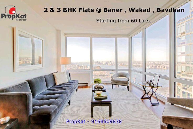 2 & 3 BHK Flats @ #Baner #Wakad  #Bavdhan Starting from 60 Lacs.  #PropKat 9168609838  #Pune #2BHK #3BHK  #FlatsinPune