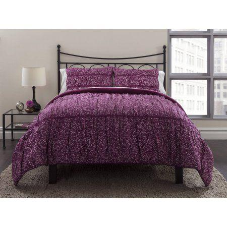 Wild Field Berry Bedding Duvet Set, Purple