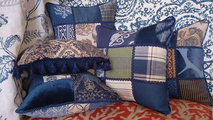 Купить Подушки декоративные (Подушки декоративные синие) - декоративная подушка, подушка декоративная, подушка на диван