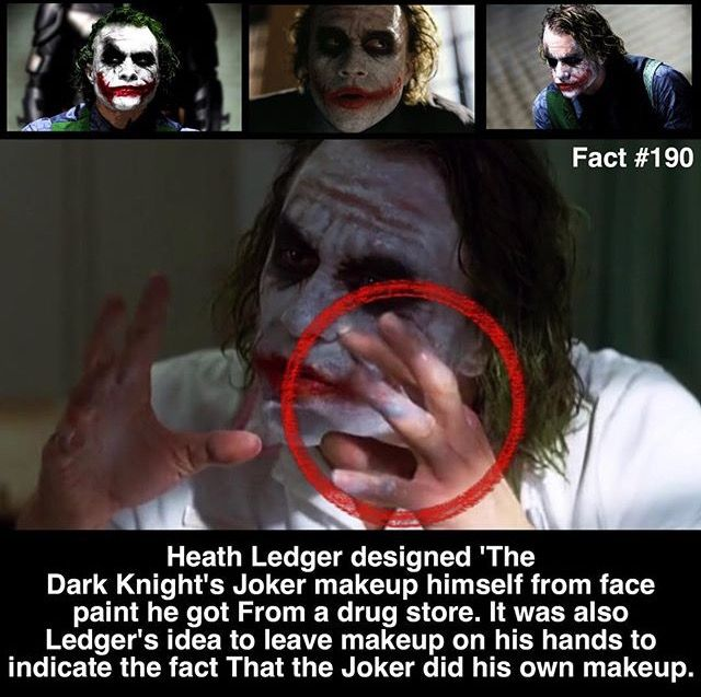 Heath Ledger joker fact #190