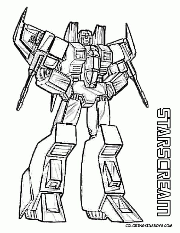 Transformers Coloring Pages Starscream