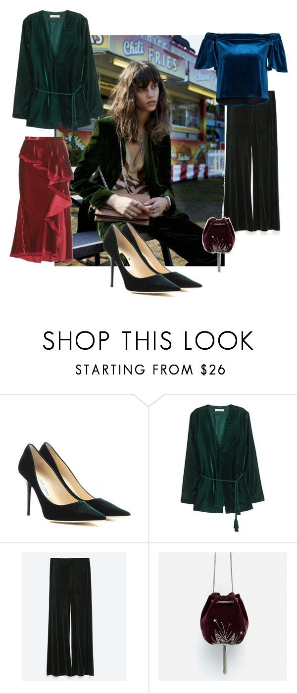 valvet by nadia-kandil on Polyvore featuring H&M, Givenchy, Zara and Jimmy Choo