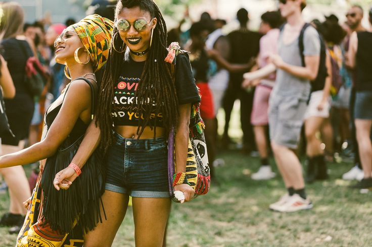 What does it mean to be black? What does it mean to be punk? A glimpse of the crowd from this past weekend's Afropunk 2015.