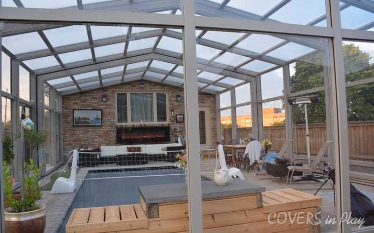 A luxury glass or screen enclosure from COVERS in Play can allow you to enjoy your pool year long. Visit us today!	http://goo.gl/ri6Hd9	 #PoolCover #PoolEnclosure #PatioEnclosures #SwimmingPool #EndlessPool #Pool