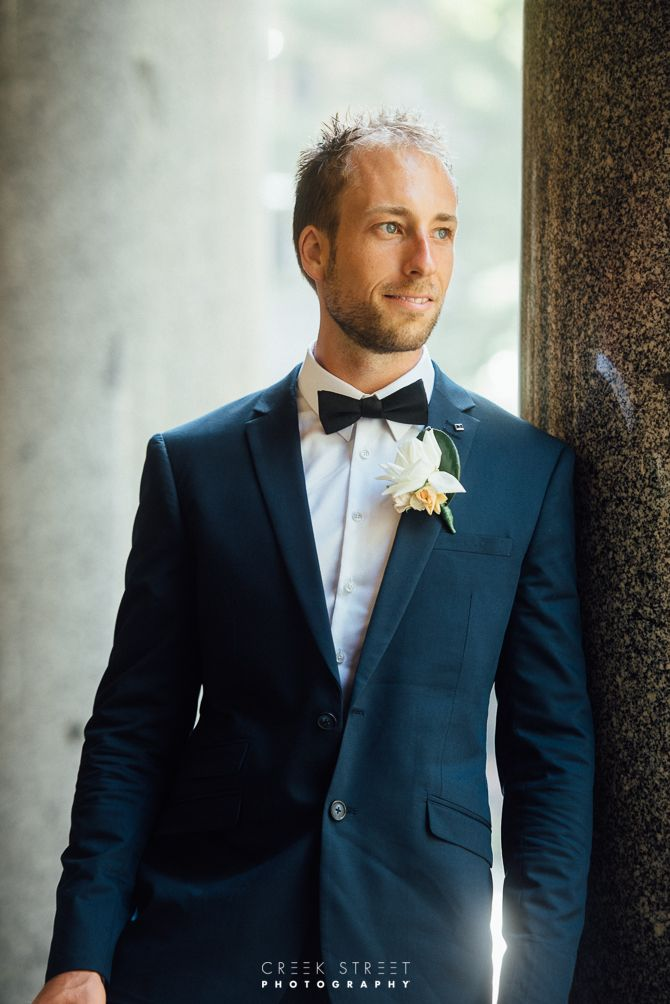 Martin Place in Sydney wedding - groom