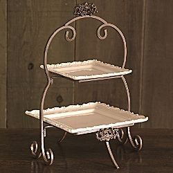 Forét 2-Tier Plate Rack by Chris Madden | Shop | Kaboodle  sc 1 st  Pinterest & 385 best All about CAKE PLATES by Dulce Edrress images on ...