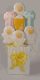 First Communion Cookie Bouquets - Cookie Baskets and Bouquet Delivery