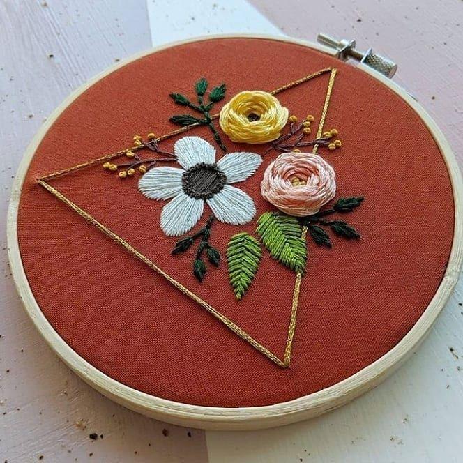12 Curtidas 0 Comentarios تعليم التطريز اليدوي Nana Stitich No Instagram تعليم التطري In 2020 Embroidery Hoop Art Creative Cards Diy Embroidery Hoop