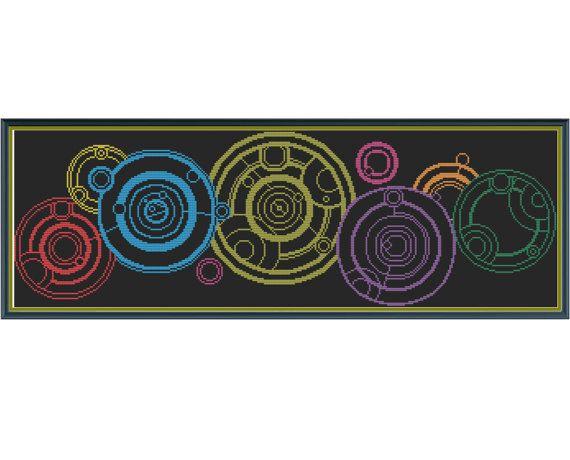 Doctor Who - The Name - Counted Cross Stitch Pattern by HornswoggleStore, $5.00 (Gallifrey, Gallifreyan, Tardins, Sci-Fi, geek, nerd, tv)