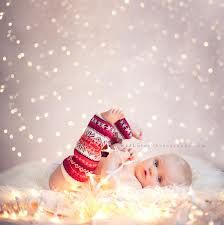baby christmas photo could do this with icycle lights and soften background