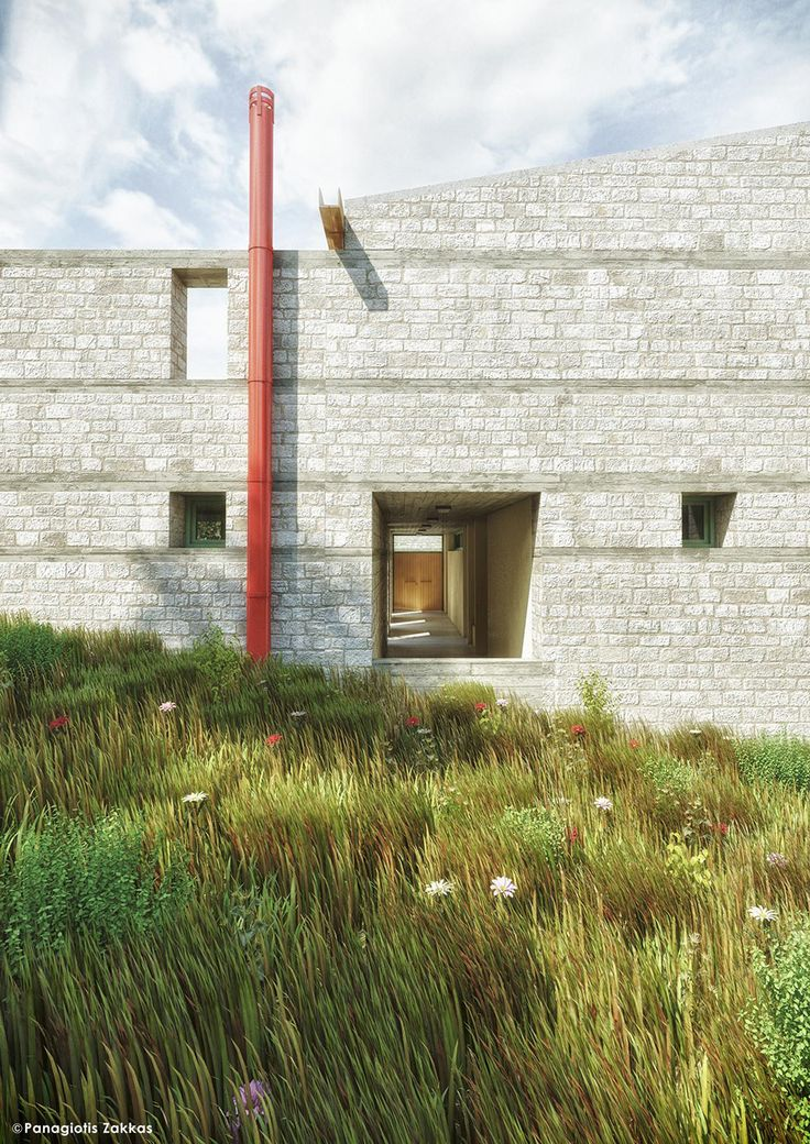 Centre of Historical Studies in Foiniki, Thesprotia, Greece, 3D Rendering - www.pzarch.gr