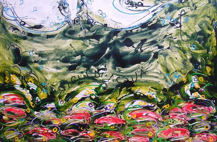 Water lilies  Colori fluttuanti stagnanti, nell'acqua torbida, per trovare  le giuste sfumature!! Trasudiamo  bellezza  da ambienti paludosi cerchiamo colori da ambienti ostili; improvvisamente  fermiamo il tempo in un pendolo sospeso senza travi.