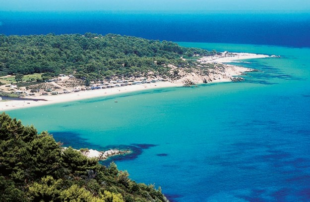 Platanisti beach in Halkidiki - 2d foot - Sithonia - After walking in the shade of a eucalyptus forest, the white sandy beach rises ...