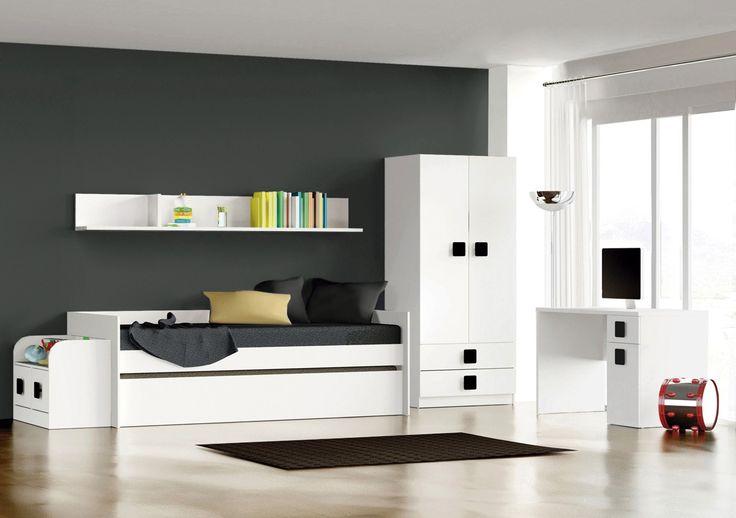 Conjunto dormitorio compuesto de 1 armario 2 puertas 2 for Conjunto dormitorio barato
