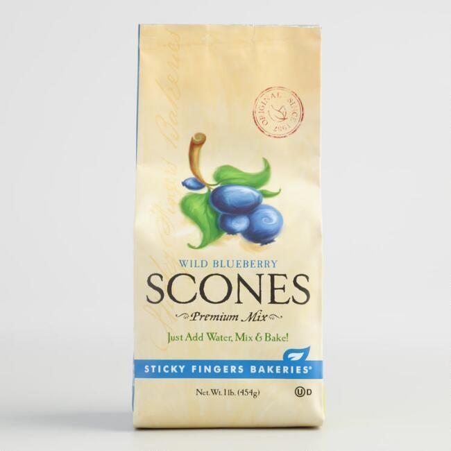 World Market Sticky Fingers Bakeries Wild Blueberry Scones Mix, Set of 6