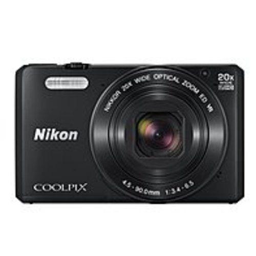 Nikon Coolpix S7000 16 Megapixel Compact Camera - Black - 3 LCD - 16:9 - 20x Optical Zoom - 4x - Optical (IS) - TTL - 4608 x 3456 Image - 1920 x 1080 Video - HDMI - HD Movie Mode - Wireless LAN