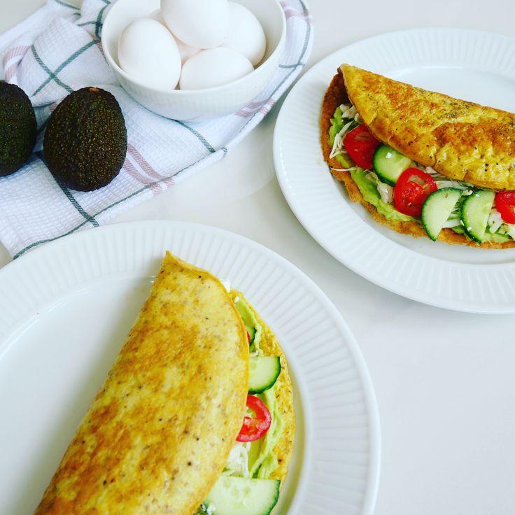 Æggewrap med spidskål og avokadocreme (Gluten- og mælkefri) - Tina Lykkegaard