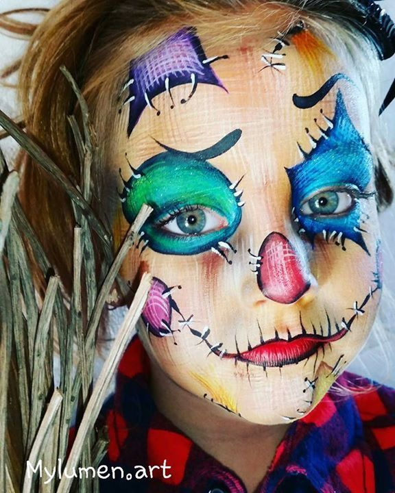 cool scarecrow make up for halloween