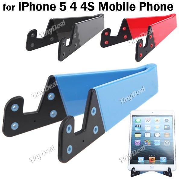 Mini Universal Hard Plástico SuPortae Titular por iPhone 5 4 4S 3G 3GS Mobile Phone iPad MHD-141662