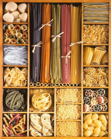 Toda clase de pastas!  http://4.bp.blogspot.com/_CBv96_ZOFxc/TOhUE4Gp0tI/AAAAAAAAA8M/0n6YKzpJu-Q/s1600/MW101.jpg