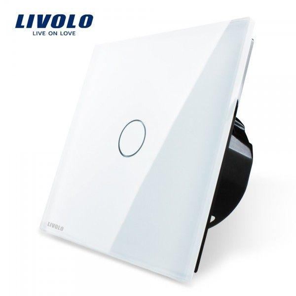 Interrupteur à impulsion tactile LIVOLO en verre securit design haut de gamme, permet de commander n'importe quel type de telerupteur