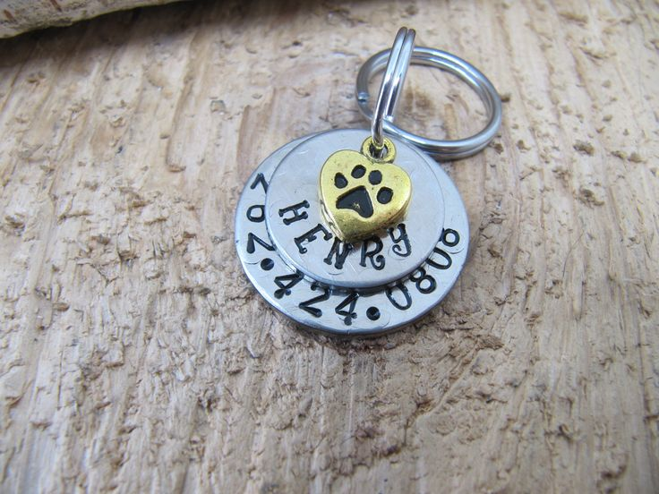 Pet ID tag,Nickel Silver Pet ID tags,  custom pet tag, Dog ID tags, Cat name tag, Dog name tag, Personalized pet tags, Custom dog tags by InTheQuiet on Etsy
