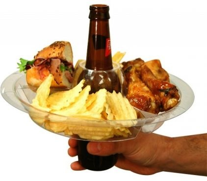The Go Plate...now this is just genius! Just don't try to take a drink until you sit down:)