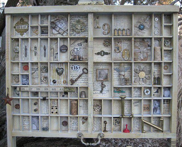 Letterpress Tray by ScrappedTreasures, via Flickr
