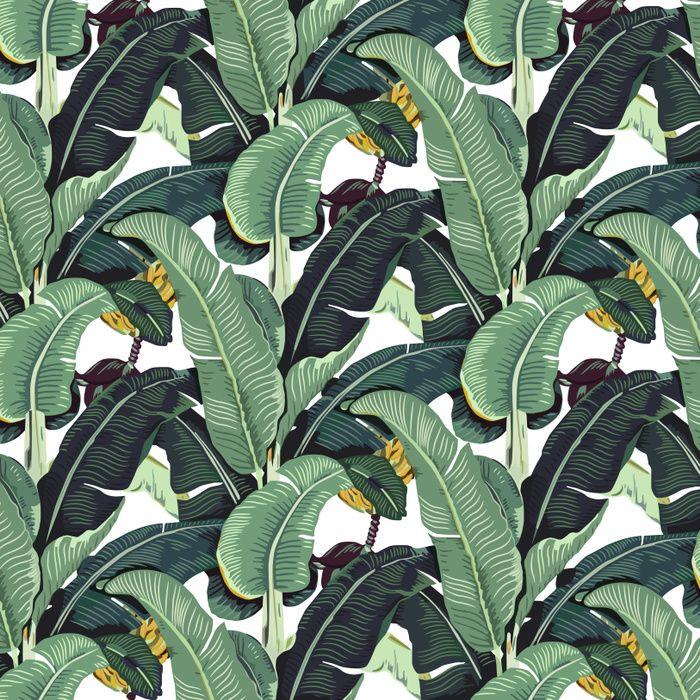 banana leaf pattern tropical jungle botanical