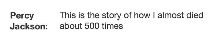 Percy Jackson Fact