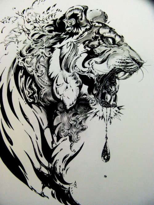 ink. Like the style, wish it was a wolf