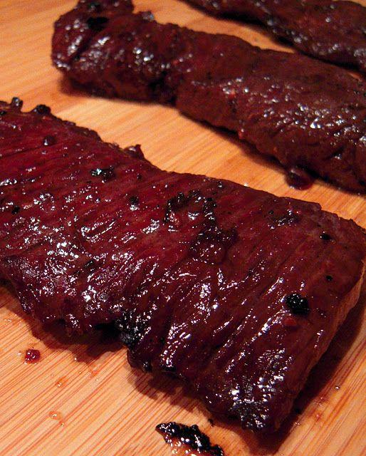 grilled balsamic skirt steak
