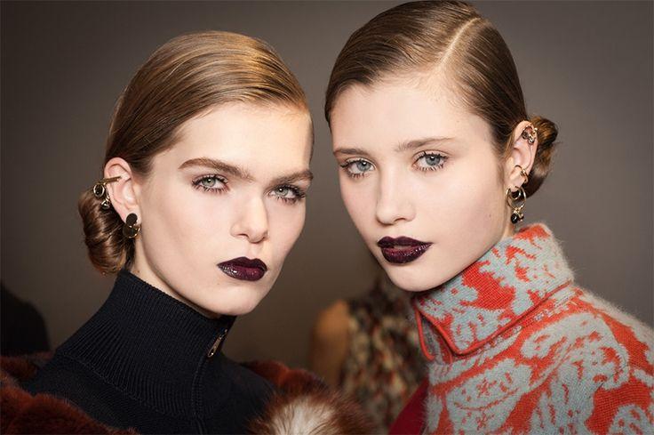 Dark lips | Donker lipstiffies  rooi rose #WinterTrends2016