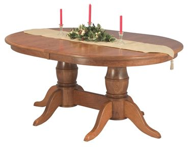 Amish Harrison Single & Double Pedestal Dining Tables:    To feel at home, stay at home with this wonderful dining table =)