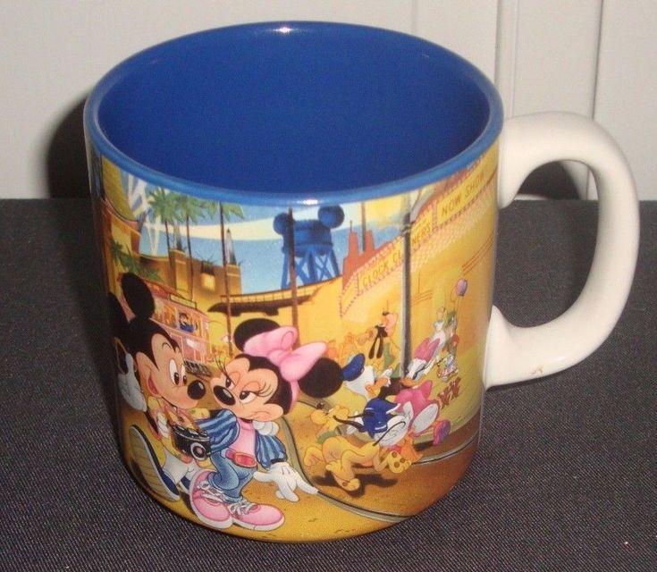 Disney Mickey Minnie Mouse Mgm Studios Coffee Cup Mug 16 Oz Ounces