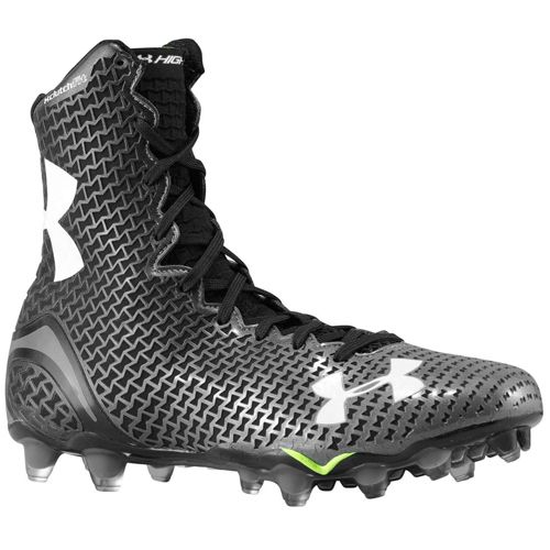 all black under armour football cleats