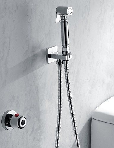 General Bathroomtoilet Handheld Shattaf Bidet Shower Spray With Thermostatic Tap Valve And 150 Cm Stainless Steel Hose -- Check this awesome product by going to the link at the image.