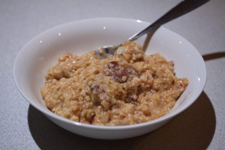 Sistermixin' - Creamy Tomato Chicken and Salami Rissoto