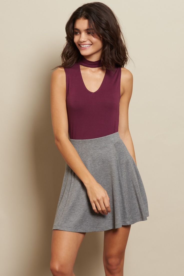 Spin Pretty With A Panelled Body Elastic Waist And