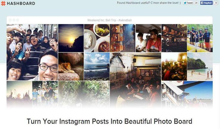 Hashboard es una página para crear tableros de Instagram que muestran las imágenes señaladas con el hashtag que seleccionemos. Para adictos a Instagram.