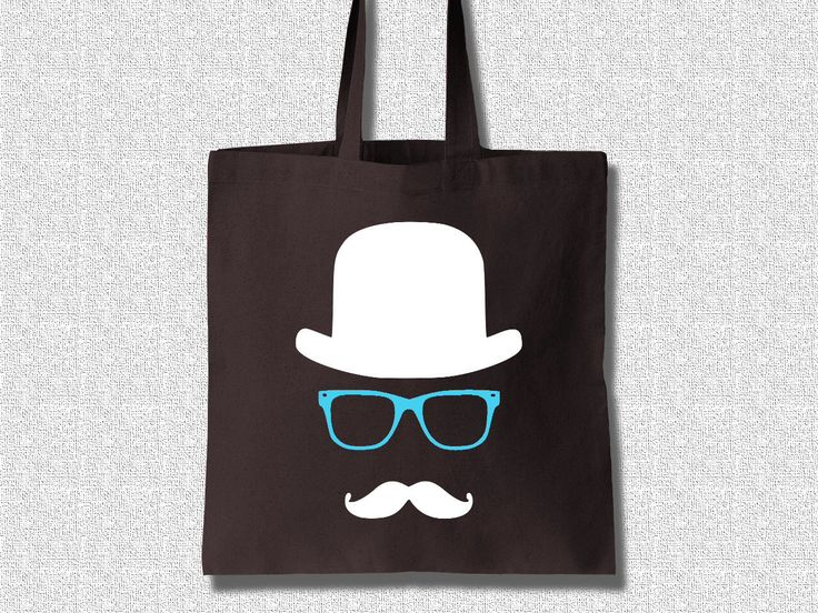 Cotton Tote Bag Women The Invisible Man with Mustache - Cotton Tote Bag Women by K-Log by KLogShirts on Etsy https://www.etsy.com/listing/226270734/cotton-tote-bag-women-the-invisible-man
