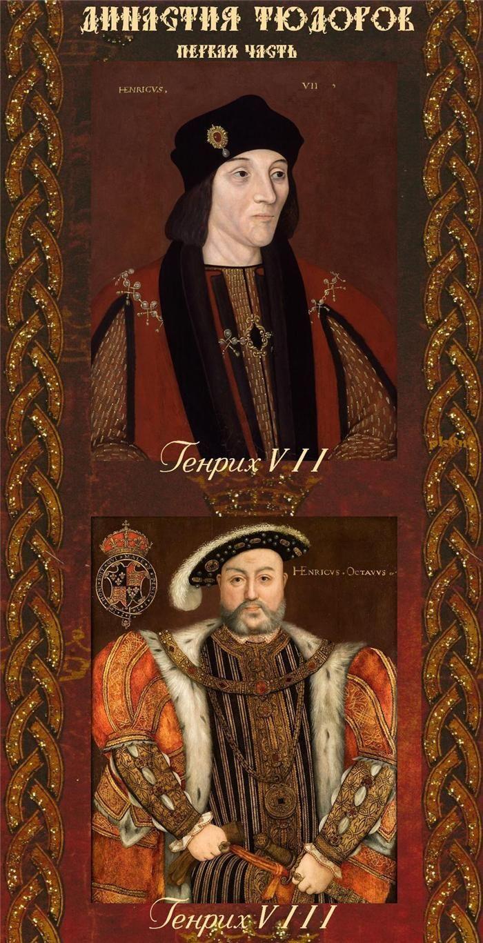 ЧАСТЬ 2. Династия Тюдоров.1485-1547. Генрих VII (1457-1509) годы правления (1485-1509) Генрих VIII (1491-1547)-годы правления (1509-1547)