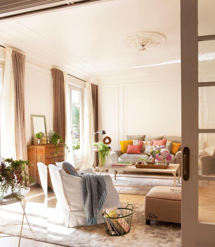 M s de 1000 ideas sobre sof marr n oscuro en pinterest for Cortinas salon marron