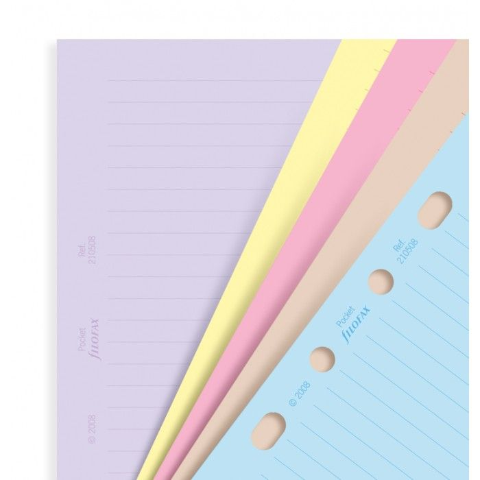 Classic Coloured Ruled Notepaper