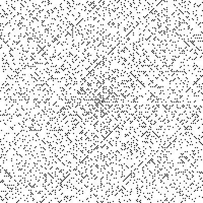 A lot of dots, but forming diagonal lines